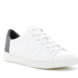 Vince Varin Denim white leather sneakers size 9.5